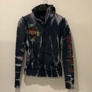 Sinful full zip hoodie with rhinestones